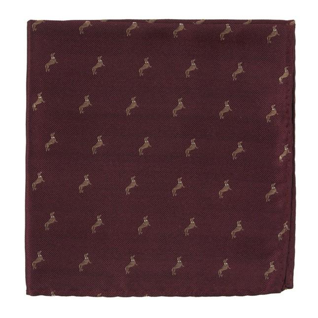 Dog Days Burgundy Pocket Square
