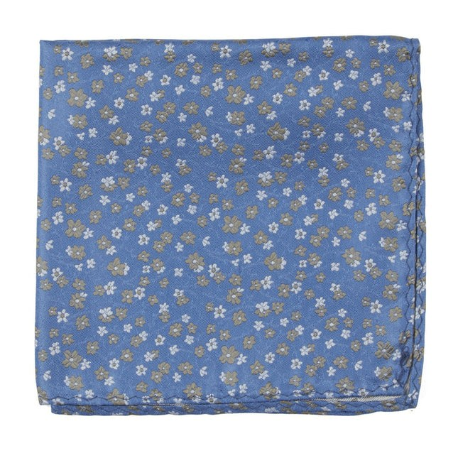 Free Fall Floral Light Blue Pocket Square