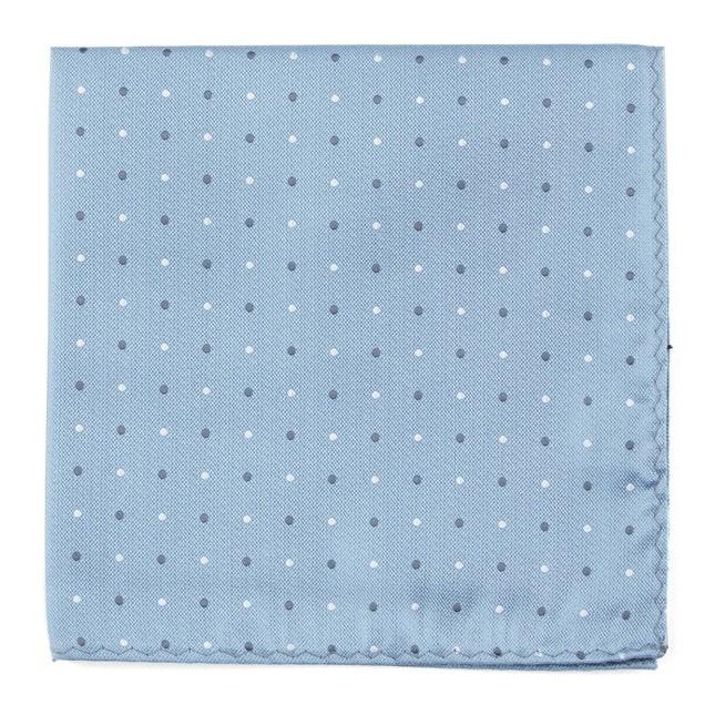 Suited Polka Dots Steel Blue Pocket Square