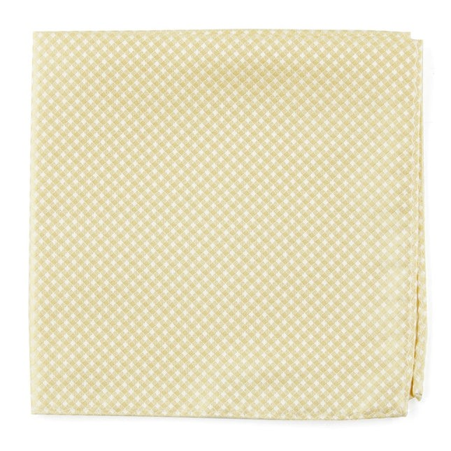Be Married Checks Butter Pocket Square