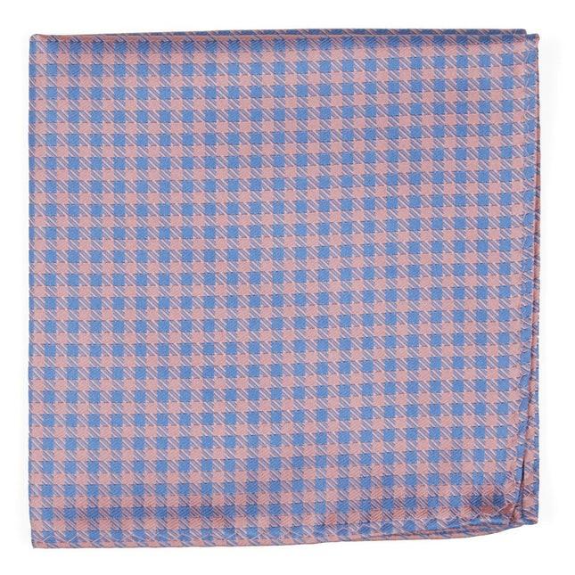 Commix Checks Pink Pocket Square