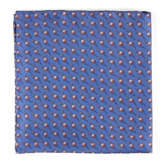 Flamingo Cast Periwinkle Pocket Square