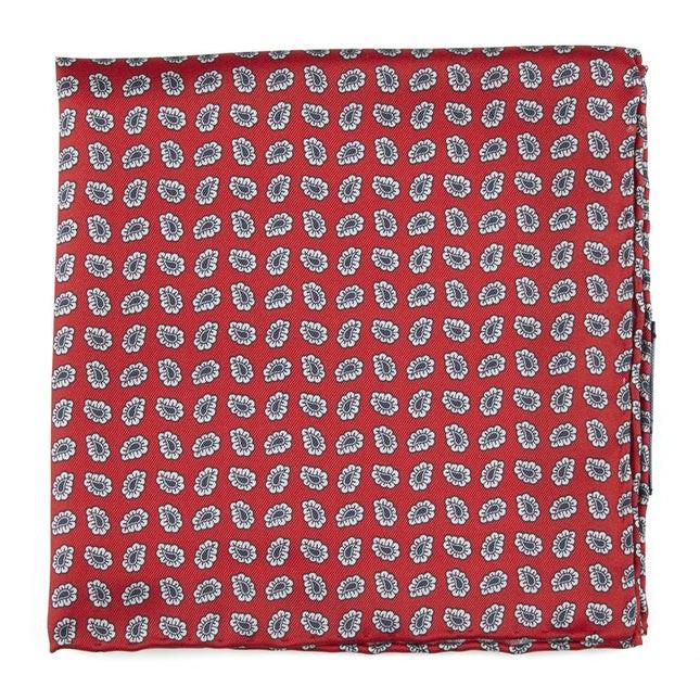 Fringe Paisley Apple Red Pocket Square