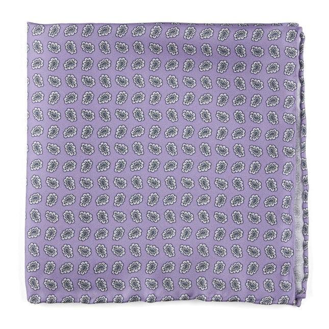 Fringe Paisley Lilac Pocket Square