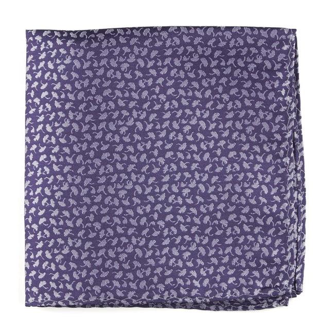 True Floral Purple Pocket Square