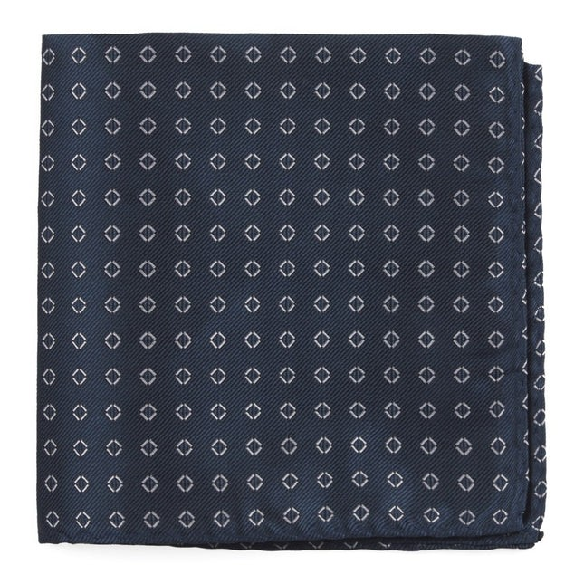 Junction Geos Navy Pocket Square