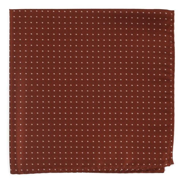 Mini Dots Copper Pocket Square