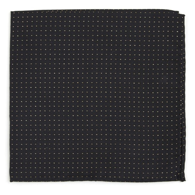 Flicker Classic Black Pocket Square