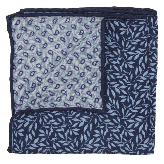 Sprout Paisley Navy Pocket Square