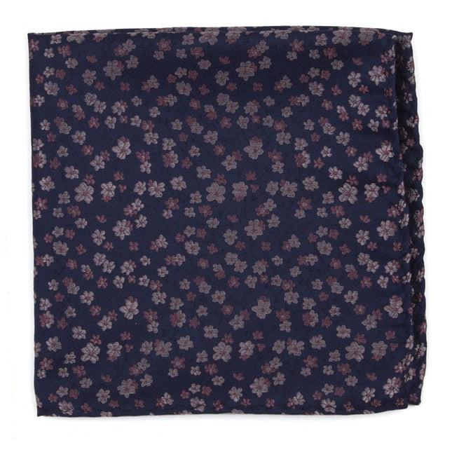 Free Fall Floral Purple Pocket Square