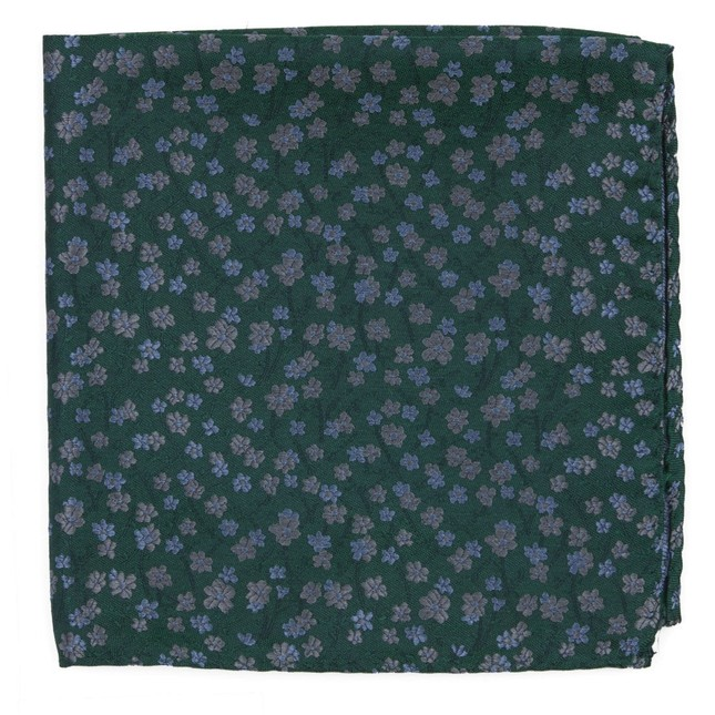 Free Fall Floral Kelly Green Pocket Square