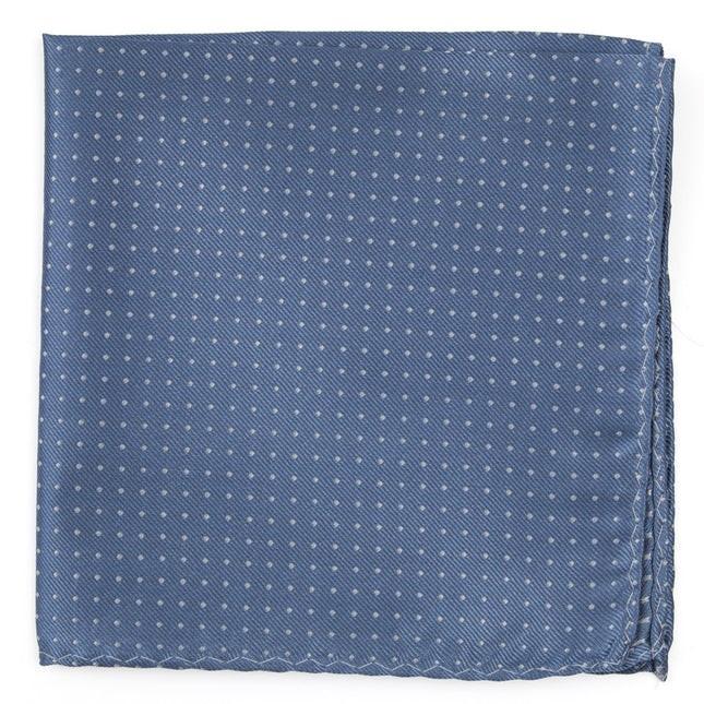 Mini Dots Slate Blue Pocket Square