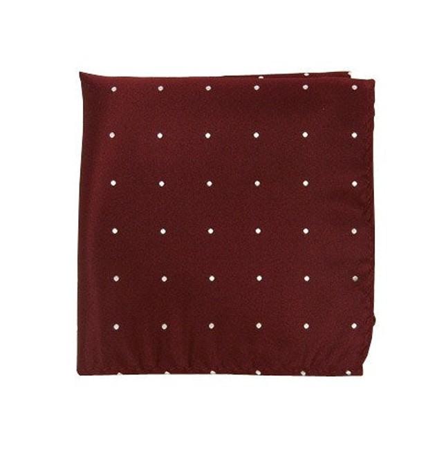 Satin Dot Burgundy Pocket Square