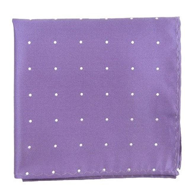 Satin Dot Lavender Pocket Square