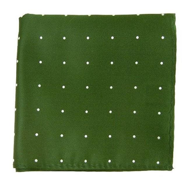 Satin Dot Hunter Pocket Square
