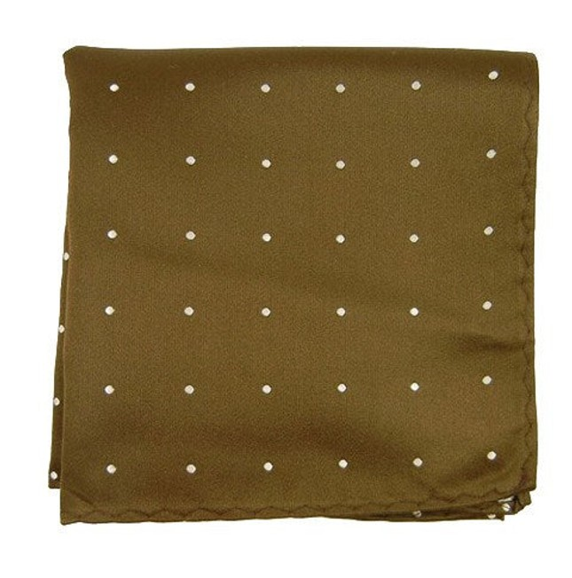 Satin Dot Chocolate Pocket Square