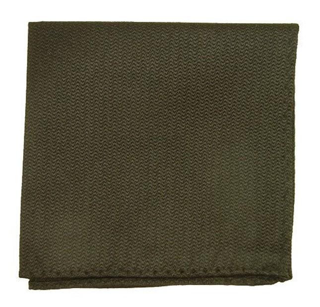 Static Solid Black Pocket Square