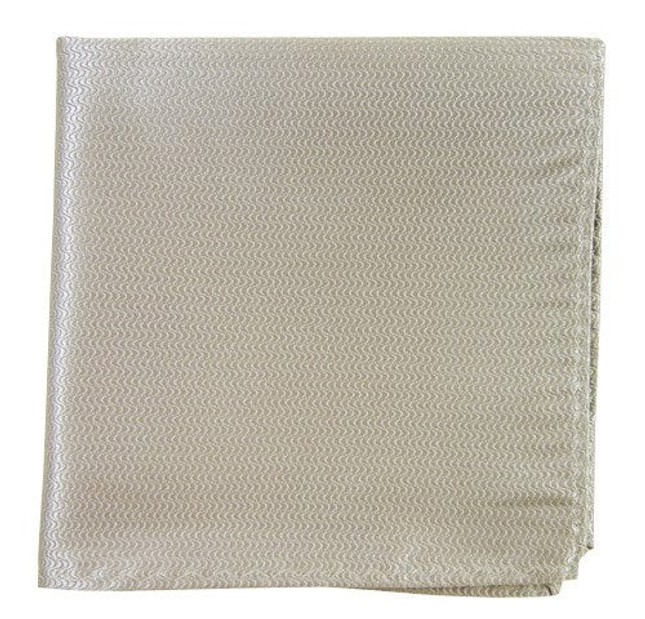 Static Solid Silver Pocket Square