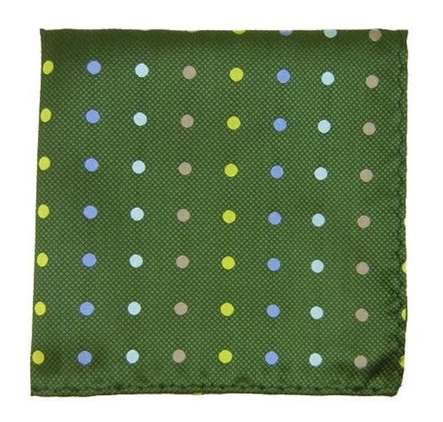 Spotlight Hunter Green Pocket Square