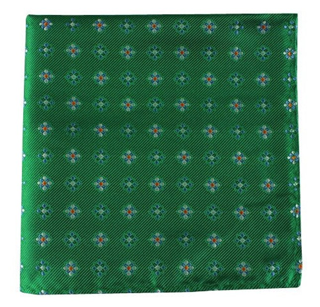 Juneberry Emerald Green Pocket Square