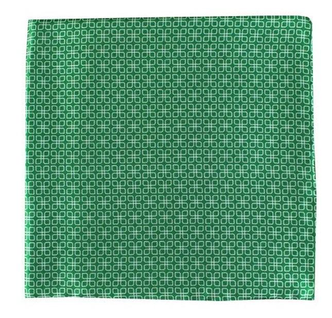 Geoflower Green Pocket Square