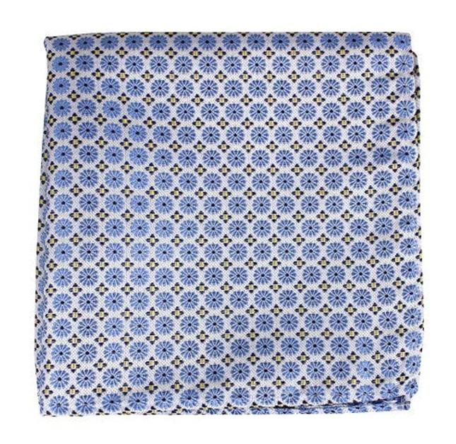 Wallflower Light Blue Pocket Square