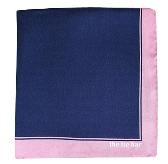 Solid Framed Baby Pink Pocket Square