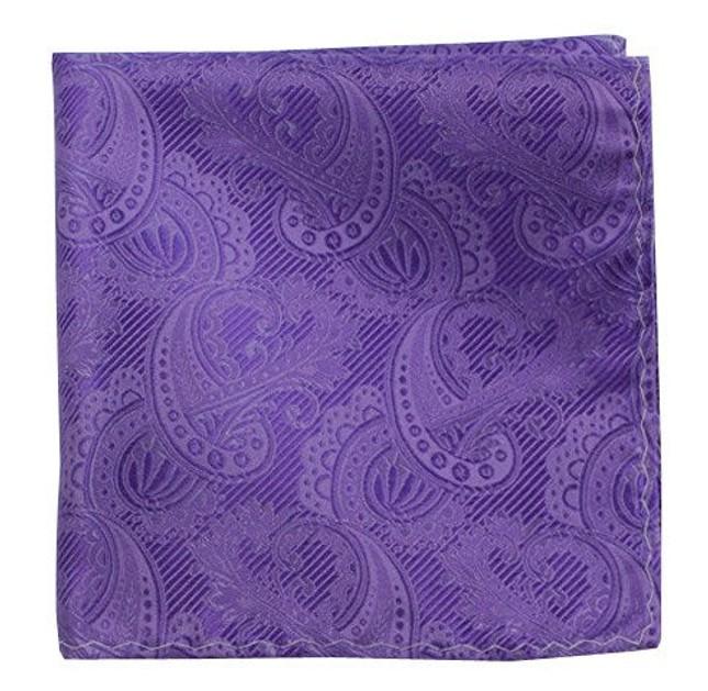 Twill Paisley Violet Pocket Square
