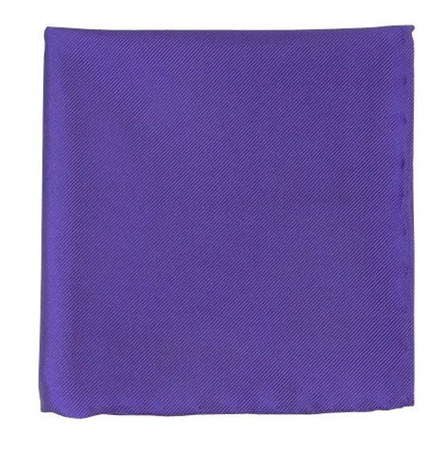 Solid Twill Violet Pocket Square