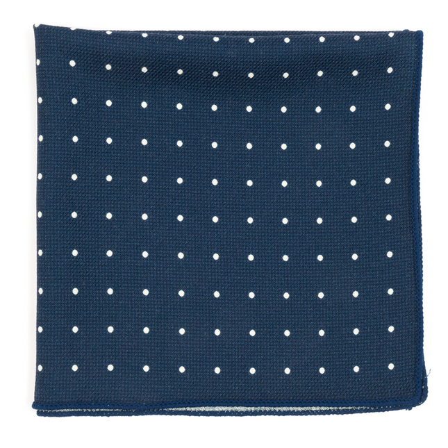 Primary Dot Navy Pocket Square