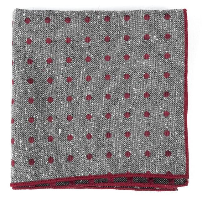 Revolve Dots Burgundy Pocket Square
