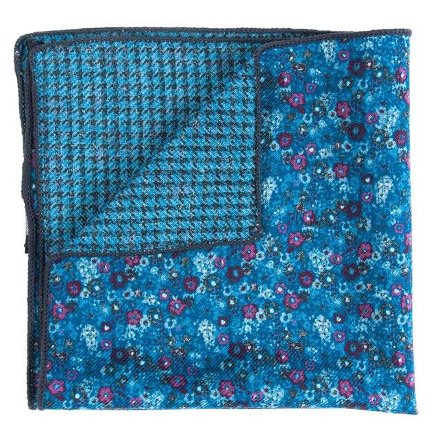 Floral Turnabout Light Blue Pocket Square