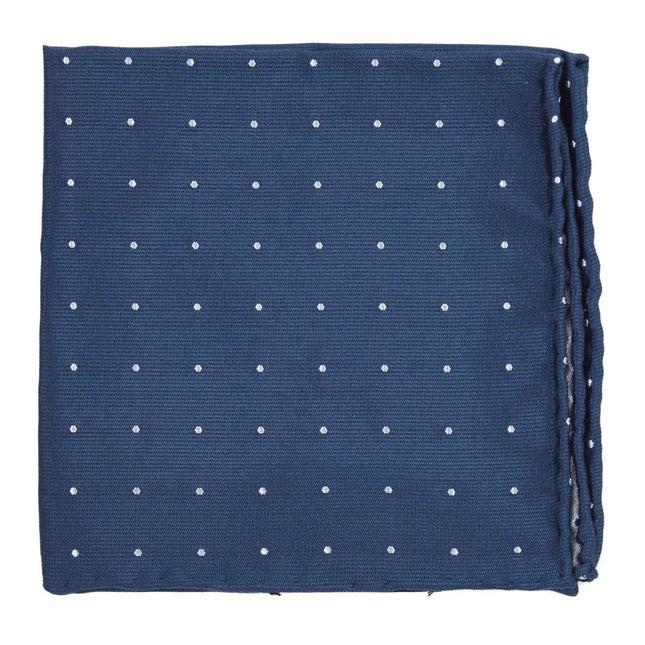Dotted Report Serene Blue Pocket Square