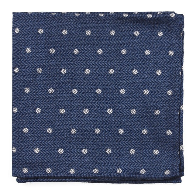 Dotted Hitch Classic Blue Pocket Square