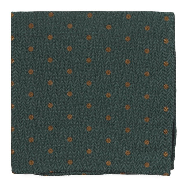 Dotted Hitch Hunter Green Pocket Square