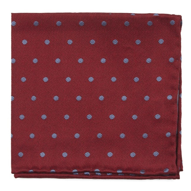 Dotted Hitch Red Pocket Square