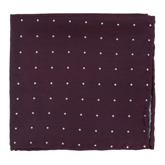 Dotted Report Wine Pocket Square