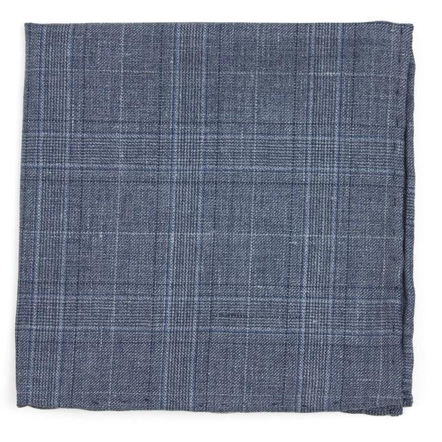 Cast Plaid Grey Pocket Square
