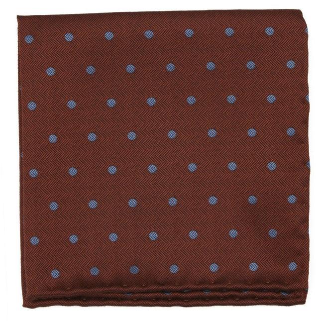 Dotted Hitch Orange Pocket Square