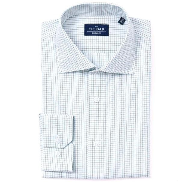 Tattersall Blue Non-Iron Dress Shirt