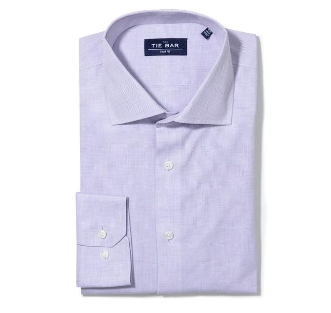 Summer Solid Lavender Non-Iron Dress Shirt