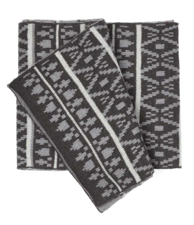 Logan Square Knit Black Scarf
