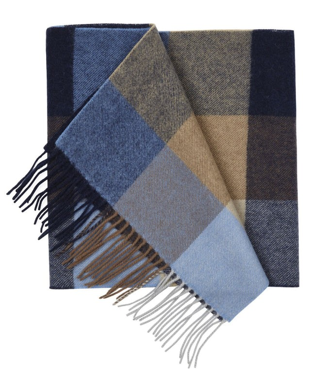 Lincoln Park Check Camel Scarf