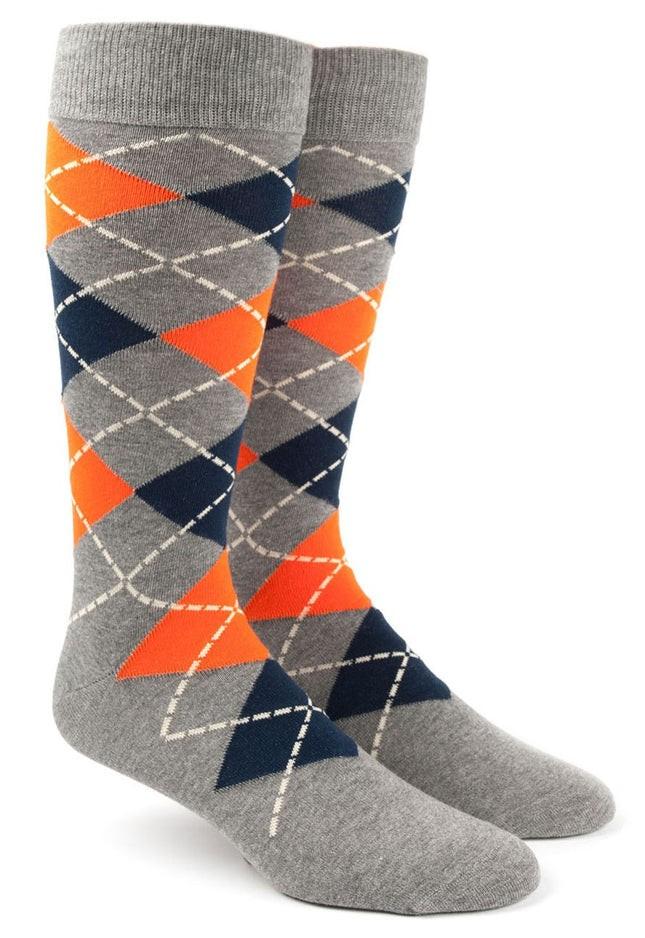 Argyle Tangerine Dress Socks