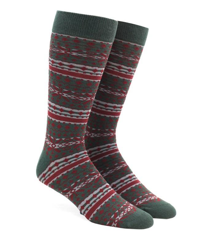 Fair Isle Dark Hunter Dress Socks