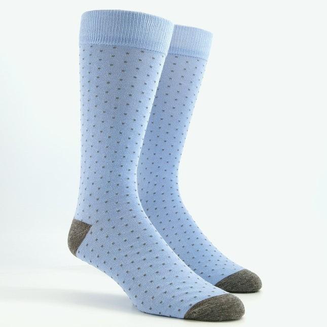 Mumu Weddings - Seaside Dot Steel Blue Dress Socks