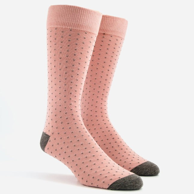 Mumu Weddings - Seaside Dot Dusty Blush Dress Socks