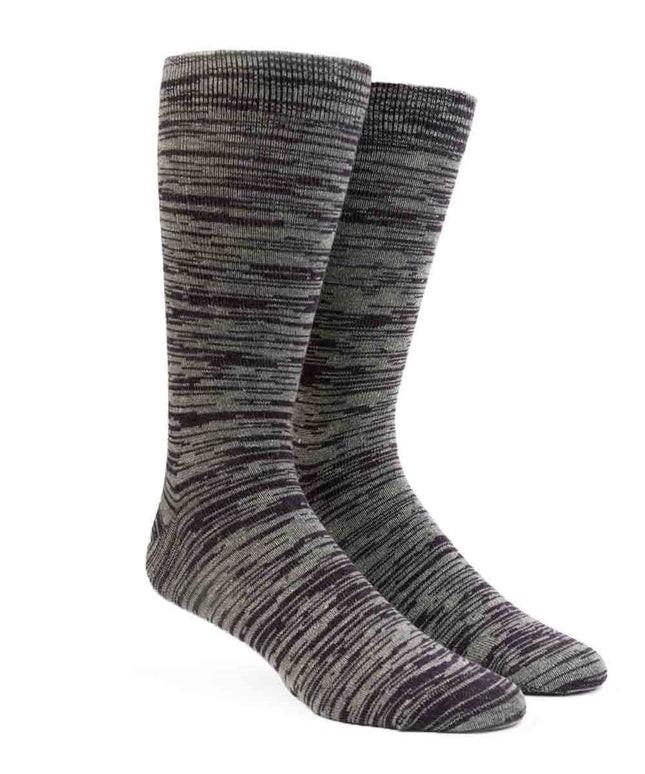 Marled Purple Dress Socks