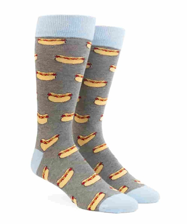 Chicago Hot Dog Charcoal Dress Socks