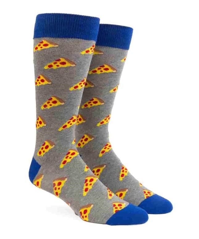 Nyc Pizza Charcoal Dress Socks